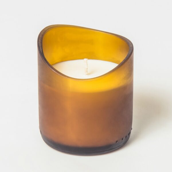 Amber Recovered Glass candle